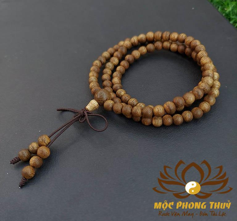 Chuỗi vòng tay trầm hương 108 hạt
